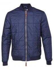 Knowledge Cotton Apparel Jakke - Quilted Bomber Total Eclipse