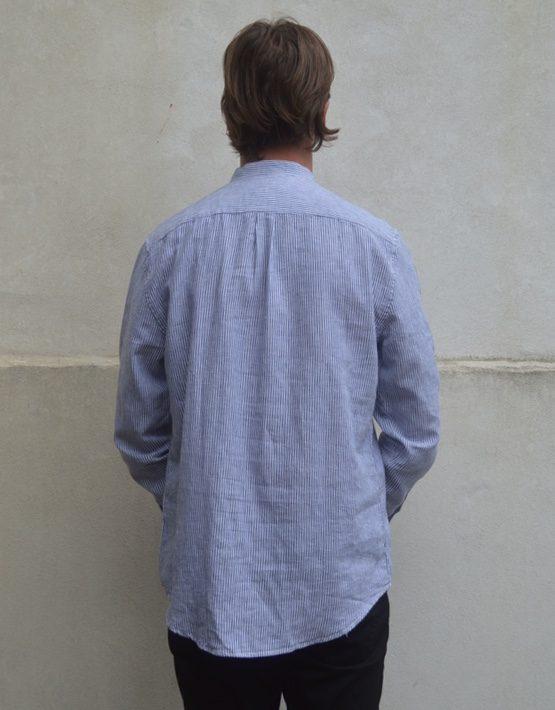 Samsøe Samsøe Skjorte - Liam EA 6965 White Stripe