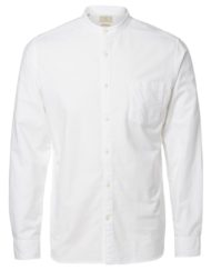 Selected Skjorte China Collar – White