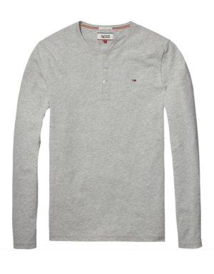 Hilfiger Denim Granddad T-Shirt Grey