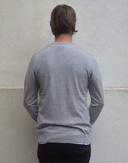 Samsøe Samsøe Strik - Lucky zip cardigan 3111 Light Grey Melange