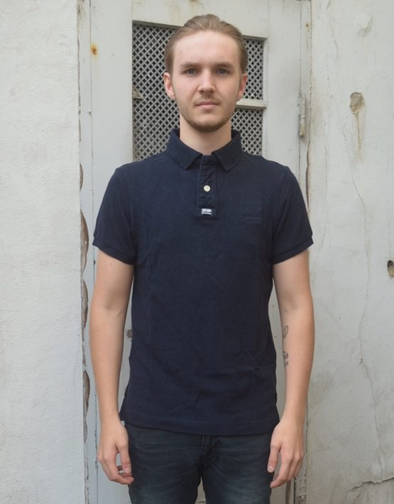 Superdry Polo - Classic Pique Eclipse Navy Marl