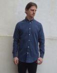 Samsøe Samsøe Skjorte - Liam CX 3942 Dark Blue Melange