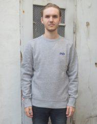 Superdry Sweat - Orange Label Pearl Grey Grit