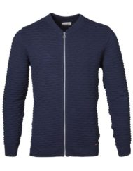 Knowledge Cotton Apparel Cardigan – Bobble Look Navy