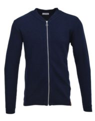 Knowledge Cotton Apparel Cardigan – Eyelet Navy