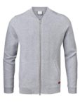 Knowledge Cotton Apparel Cardigan - Quilted Zip Grey