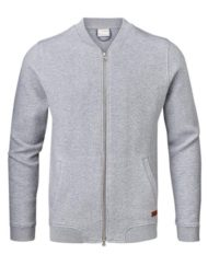 Knowledge Cotton Apparel Cardigan – Quilted Zip Grey