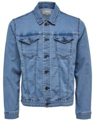 Only & Sons Chris Camp Denim Jacket – Blue
