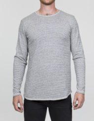 RVLT T-Shirt – 1881 TEE L/S OFFWHITE STRIPES