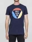RVLT T-Shirt - 1853 TRI Tee Print Navy