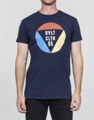 9RVLT T-Shirt – 1853 TRI Tee Print Navy