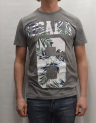 Superdry T-Shirt – Osaka Hibiscus Dark Grey