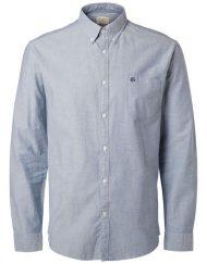 16040493 Selected Skjorte – Dusty Blue | GATE 36 HOBRO