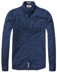 DM0DM01840002 HILFIGER DENIM – Skjorte Twill Navy | GATE 36 HOBRO