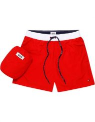 DM0DM02132662 HILFIGER DENIM – Badeshorts ColorBlock Red | GATE 36 Hobro