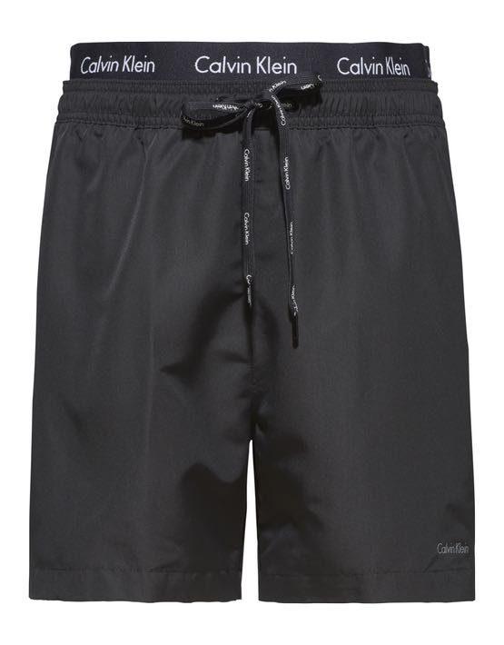 Calvin Klein - Badeshorts Double Waistband Black   Gate 36 Hobro  