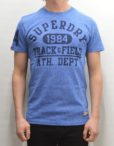 Superdry T-Shirt - Trackster Royal Grit