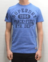 Superdry T-Shirt – Trackster Royal Grit