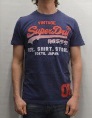 Superdry T-Shirt – Shirt Shop Fade Tee Blue Marl