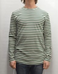 Samsøe Samsøe Strik – Baden Stripe Dark Green