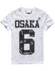 Superdry T-Shirt - Osaka Splatter Optic White   GATE 36 HOBRO