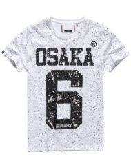 Superdry T-Shirt - Osaka Splatter Optic White | GATE 36 HOBRO