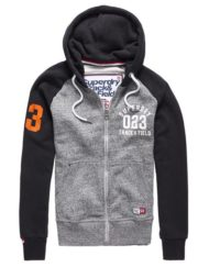 Superdry Sweat – Ziphood Trackster Flint Grey/Black Grit | GATE 36 HOBRO