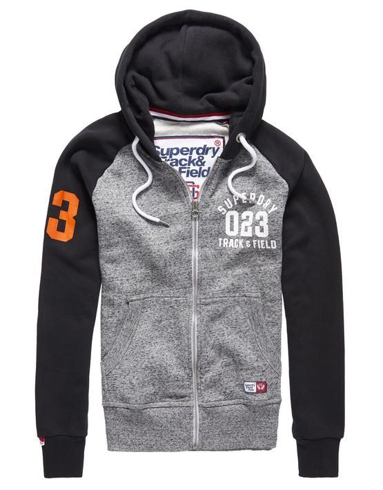 Superdry Sweat - Ziphood Trackster Flint Grey/Black Grit | GATE 36 HOBRO