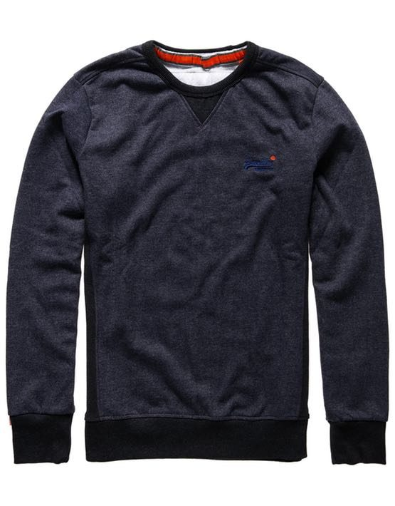 Superdry Sweat - Orange Label Crew Midnight Marl Twill | GATE 36 HOBRO