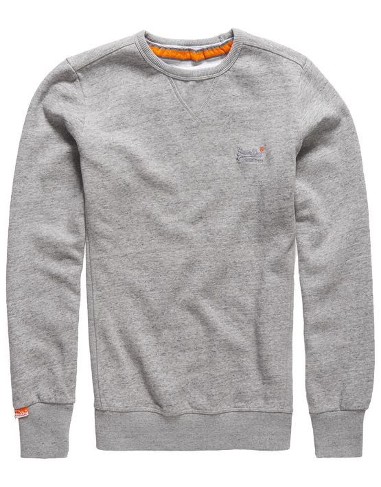 Superdry Sweat - Orange Label Crew Pearl Grey Grit | GATE 36 HOBRO