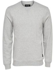 Only & Sons – Fana New Crewneck Light Grey Melange