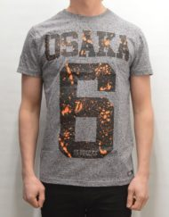 Superdry T-Shirt – Osaka Splatter Grey Grit