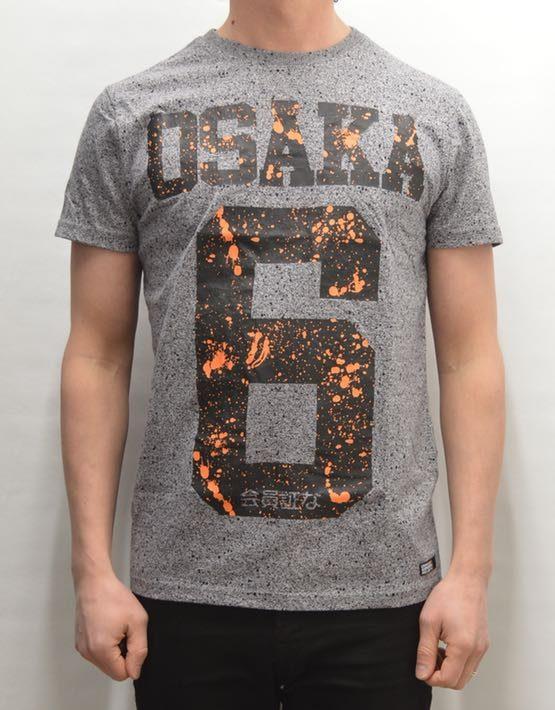 Superdry T-Shirt - Osaka Splatter Grey Grit