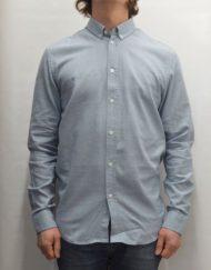 Samsøe Samsøe Skjorte – Liam Prov Blue White