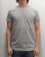 SAMSØE SAMSØE T-SHIRT – Saffron Stripe Light Grey