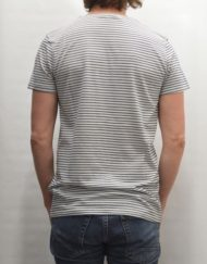 SAMSØE SAMSØE T-SHIRT - Saffron Stripe Light Grey