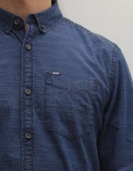 Superdry Oxford Shirt - INDIGO LOOM STRIPE