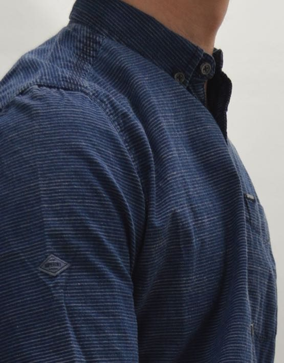 Superdry Oxford Shirt - INDIGO LOOM STRIPE