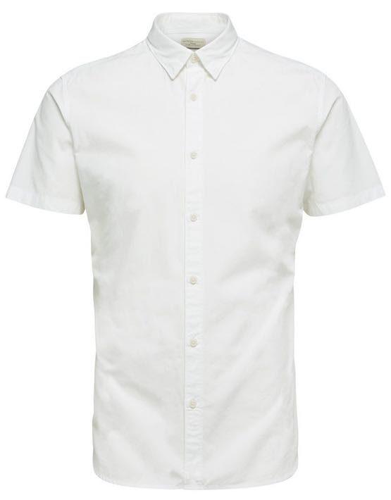 16057321 Selected Skjorte - SHHONELOUIS SS WHITE   GATE 36 HOBRO