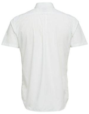 16057321 Selected Skjorte - SHHONELOUIS SS WHITE | GATE 36 HOBRO