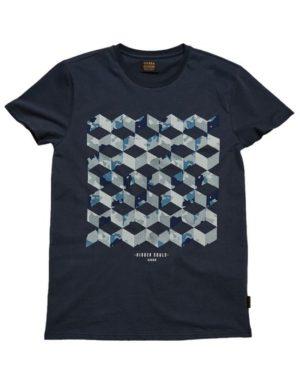 Gabba T-Shirt - Clifton Hide Navy   Gate 36 Hobro  