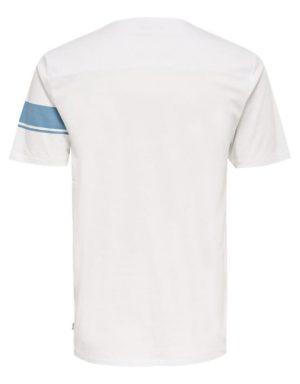 22006126_AegeanBlue | Only & Sons T-Shirt - Toke SS Tee White Blue Stripe | GATE 36