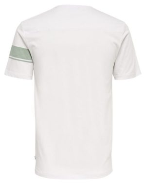 22006126_Seagrass   Only & Sons T-Shirt - Toke SS Tee White Green Stripe   GATE 36 Hobro