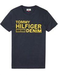DM0DM02192417 HILFIGER DENIM – LOGO T-SHIRT Navy/Yellow | GATE 36 HOBRO