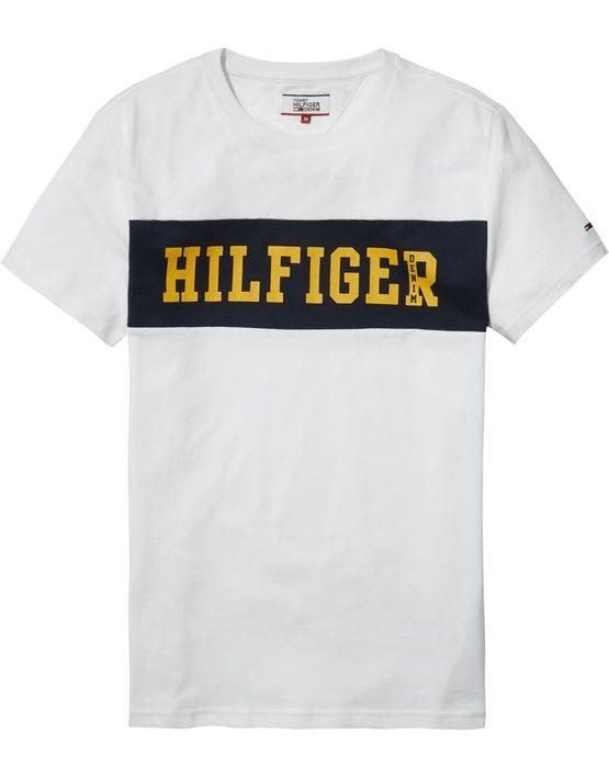 DM0DM02404100 HILFIGER DENIM - LOGO T-SHIRT Blue | GATE 36 HOBRO