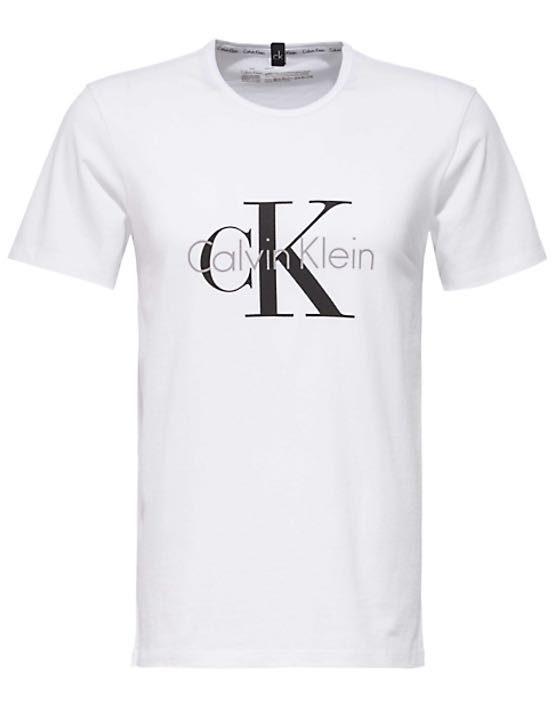 Calvin Klein - T-shirt S-S Crew Neck White   Gate 36 Hobro  