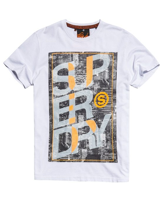 Superdry city tee white GATE36 Hobro