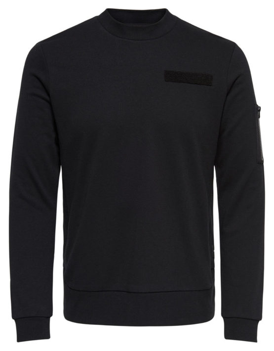 Only & Sons - Colin Sweat Black | GATE36 Hobro