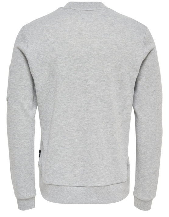 Only & Sons - Colin Sweat Light Grey | GATE36 Hobro